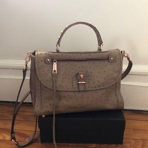 Rebecca Minkoff Ostrich Embossed Messenger Bag